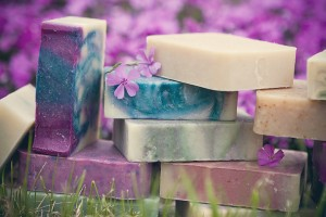 Soap with lilacs
