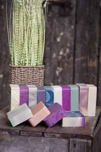 bars with tall grass in basket